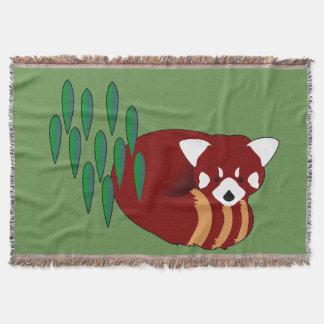 Red Panda Throw Blanket