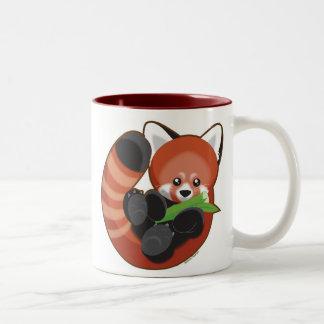 Red Panda Two-Tone Mug