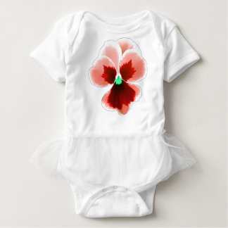 Red Pansy 201711b Baby Bodysuit