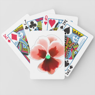Red Pansy 201711b Bicycle Playing Cards