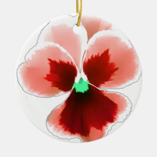 Red Pansy 201711b Ceramic Ornament