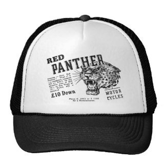 Red panther trucker hats