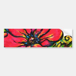 Red Papaver Bumper Sticker