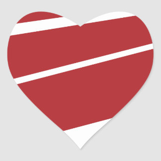 Red Paper Airplane Icon Heart Sticker