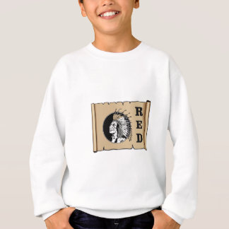 red paper indian sweatshirt