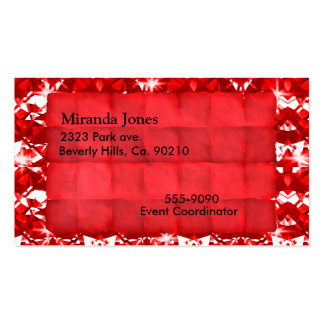 Red Parchment And Diamonds Double-Sided Standard Business Cards (Pack Of 100)