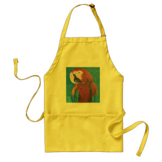 RED PARROT ADULT APRON