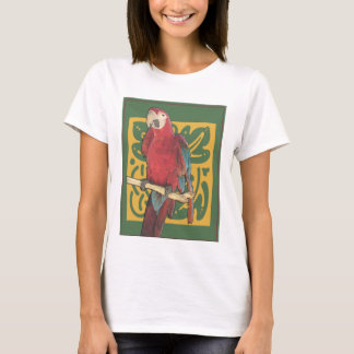 Red Parrot Art Nouveau T-Shirt
