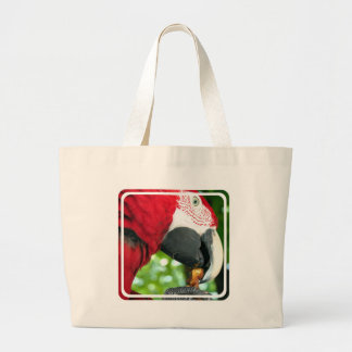 Red Parrot Canvas Bag
