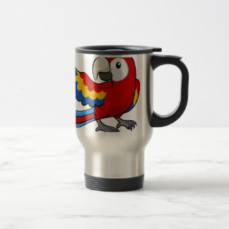 Red parrot illustration coffee mugs