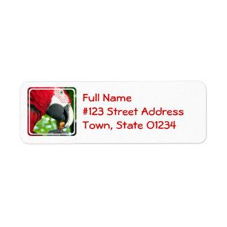 Red Parrot Mailing Label Return Address Label