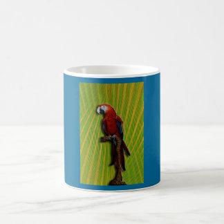 Red Parrot & Palms mug - customized