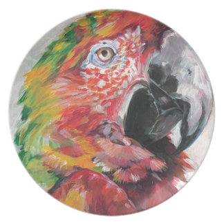 Red Parrot Plate