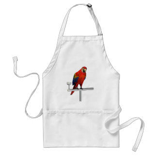 Red Parrot Scarlet Macaw Adult Apron