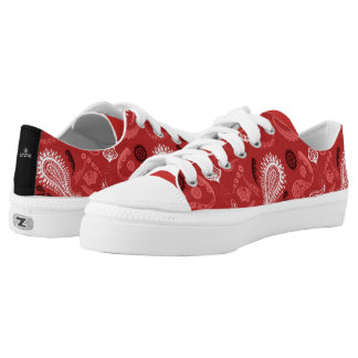 Red Pattern Bandits Low Tops