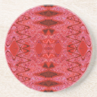 red pattern drink coaster