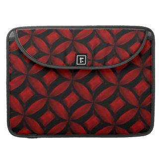Red Pattern Macbook Pro Rickshaw Flap Sleeve MacBook Pro Sleeve
