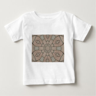 red pavers gardners kaleidescope abstract art baby T-Shirt
