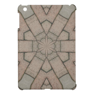 red pavers gardners kaleidescope abstract art iPad mini case