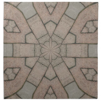 red pavers gardners kaleidescope abstract art napkin