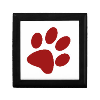 Red Paw Print Gift Box