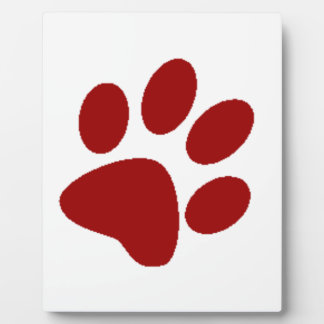 Red Paw Print Plaque