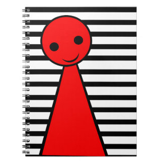 Red pawn spiral note book