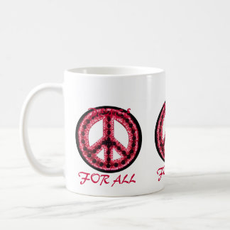 red peace for all mug