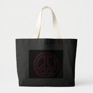 Red Peace Jumbo Tote Bags