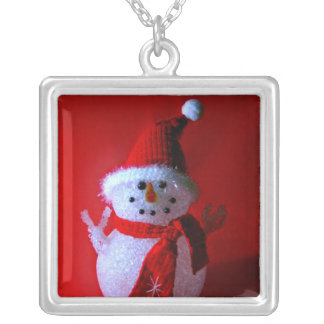 Red Peace Sign Snowman (Merry Christmas) Custom Jewelry