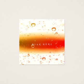 Red Peach White Abstract Water Ocean Balls Square Business Card