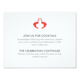 Red Peacocks Reception Card