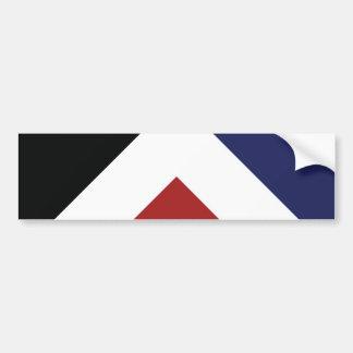 Red Peak Flag Bumper Sticker