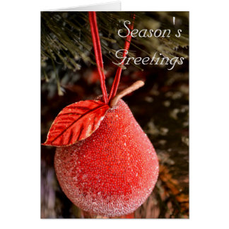 Red Pear Christmas Card