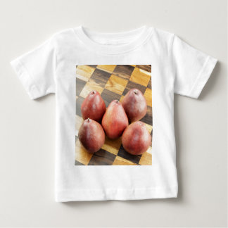 Red Pears on a Wooden Chess Board Baby T-Shirt