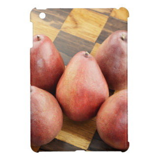 Red Pears on a Wooden Chess Board Cover For The iPad Mini