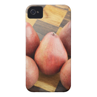 Red Pears on a Wooden Chess Board iPhone 4 Covers