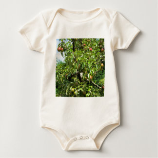 Red pears on tree branches bodysuit