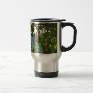 Red pears on tree branches mugs