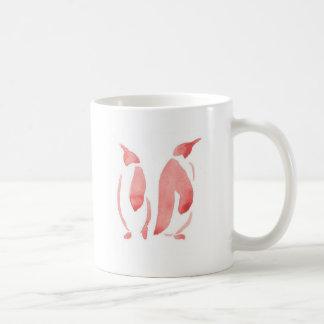 Red Penguin Pair Coffee Mug