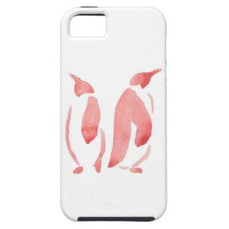 Red Penguin Pair iPhone 5 Cases