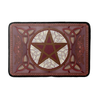 Red Pentagram & Triquatras Bath Mats