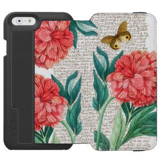 Red Peony Calligraphy Incipio Watson™ iPhone 6 Wallet Case