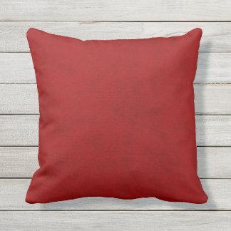 Red Peony Gambler Velvet Look Outdoor Cushion