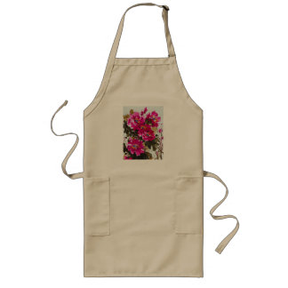 Red Peony Long Apron
