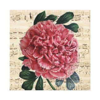 Red Peony Music Canvas Print
