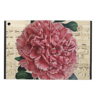 Red Peony Music Case For iPad Air