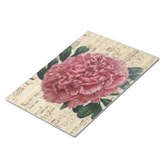 Red Peony Music Notepad
