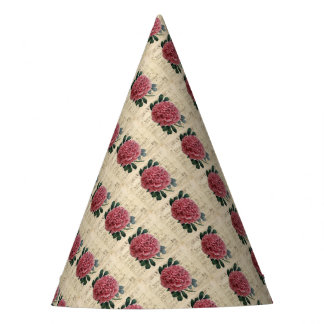 Red Peony Music Party Hat