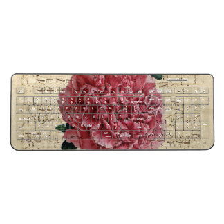 Red Peony Music Wireless Keyboard